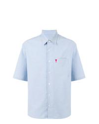 Chemise à manches courtes bleu clair AMI Alexandre Mattiussi