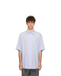 Chemise à manches courtes bleu clair Balenciaga