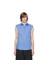 Chemise à manches courtes bleu clair Dries Van Noten