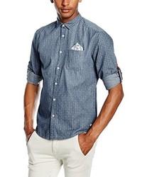 Chemise à manches courtes bleu clair Esprit