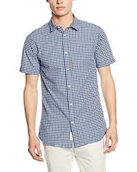 Chemise à manches courtes bleu clair Jack & Jones