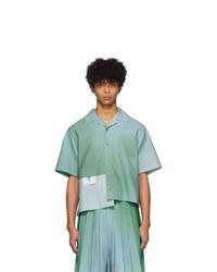 Chemise à manches courtes bleu clair Keenkee