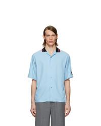 Chemise à manches courtes bleu clair Martine Rose