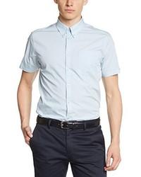 Chemise à manches courtes bleu clair Merc of London