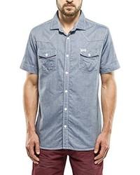 Chemise à manches courtes bleu clair Petrol Industries