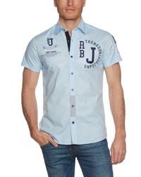Chemise à manches courtes bleu clair Redbridge