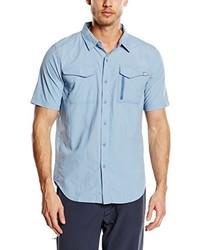 Chemise à manches courtes bleu clair The North Face