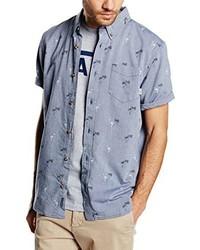 Chemise à manches courtes bleu clair Vans