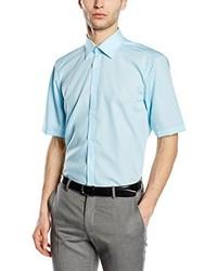 Chemise à manches courtes bleu clair Venti