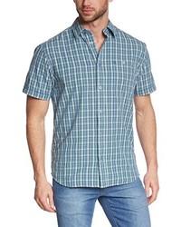Chemise à manches courtes bleu clair Wrangler