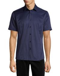Chemise à manches courtes bleu marine