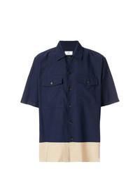 Chemise à manches courtes bleu marine AMI Alexandre Mattiussi