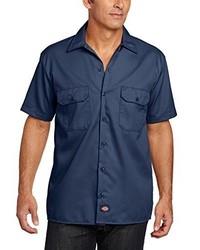 Chemise à manches courtes bleu marine Dickies