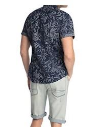Chemise à manches courtes bleue marine edc by Esprit
