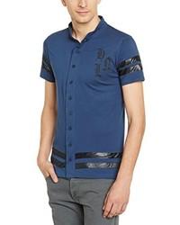 Chemise à manches courtes bleu marine Hope'N Life