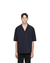 Chemise à manches courtes bleu marine Hugo
