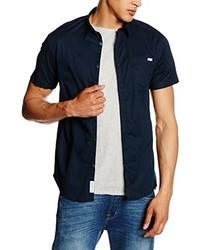 Chemise à manches courtes bleu marine Jack & Jones