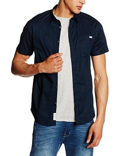 Chemise à manches courtes bleue marine Jack & Jones