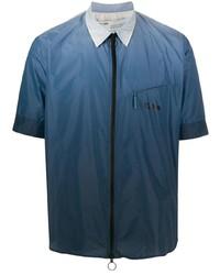 Chemise à manches courtes bleu marine Off-White
