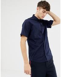 Chemise à manches courtes bleu marine Tommy Hilfiger