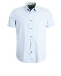 Chemise à manches courtes bleue claire Esprit