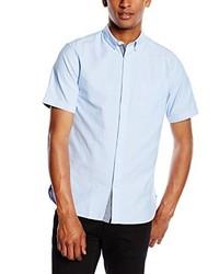 Chemise à manches courtes bleue claire Jack & Jones