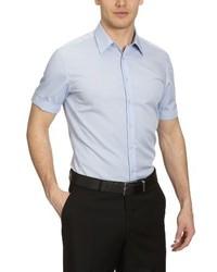 Chemise à manches courtes bleue claire Seidensticker