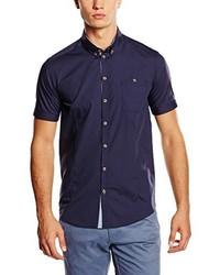 Chemise à manches courtes bleue marine Minimum