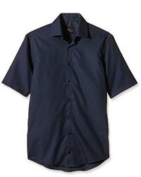 Chemise à manches courtes bleue marine Venti