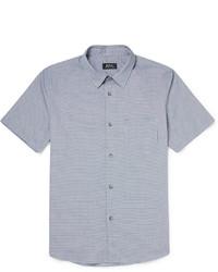 Chemise à manches courtes bleue A.P.C.