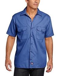 Chemise à manches courtes bleue Dickies
