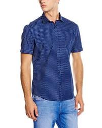 Chemise à manches courtes bleue Esprit