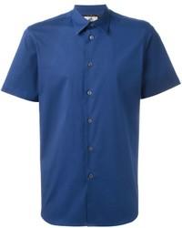 Chemise à manches courtes bleue Paul Smith
