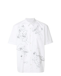Chemise à manches courtes brodée blanche Jimi Roos