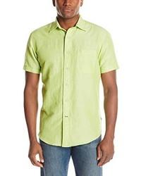 Chemise à manches courtes chartreuse