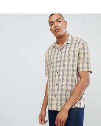 Chemise à manches courtes écossaise beige ASOS DESIGN