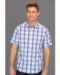 Chemise à manches courtes écossaise