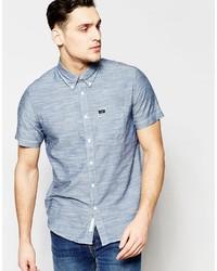 Chemise à manches courtes en chambray bleue Lee