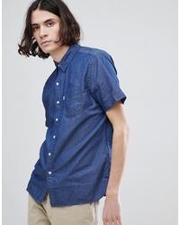 Chemise à manches courtes en chambray bleue Levi's