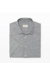 Chemise à manches courtes en chambray grise