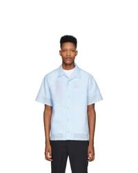 Chemise à manches courtes en lin bleu clair Kenzo