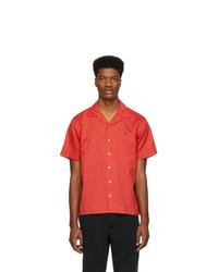 Chemise à manches courtes en lin rouge Polo Ralph Lauren