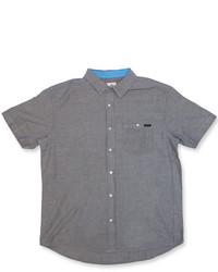 Chemise à manches courtes gris foncé