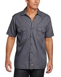 Chemise à manches courtes gris foncé Dickies