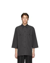 Chemise à manches courtes gris foncé Lemaire