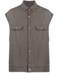 Chemise à manches courtes gris foncé Rick Owens