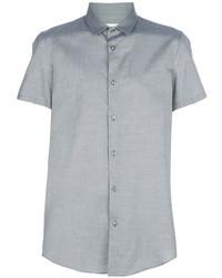 Chemise à manches courtes grise Maison Martin Margiela
