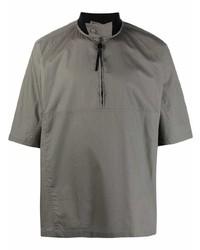 Chemise à manches courtes grise Salvatore Ferragamo