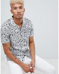 Chemise à manches courtes imprimée argentée ASOS Edition