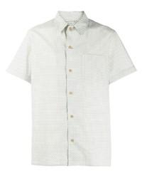 Chemise à manches courtes imprimée beige A.P.C.